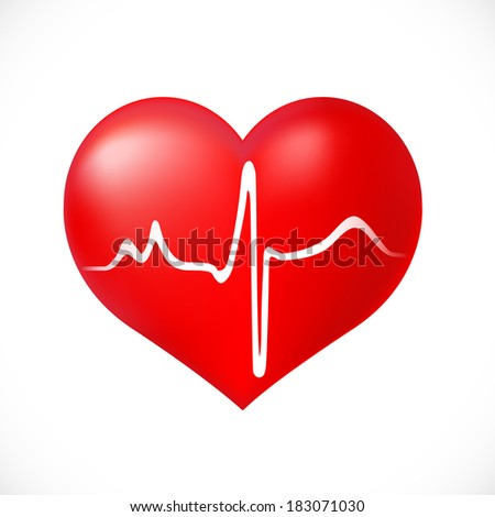 Healthy Heart  icon on white background - stock vector
