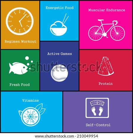 Healthy life icon. Healthy life icon vector. Healthy life icon simple. Healthy life icon app. Healthy life icon web. Healthy life icon logo. Healthy life icon sign. Healthy life icon ui.  - stock vector