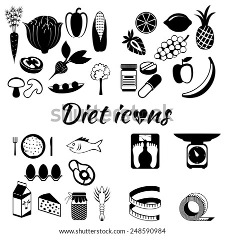 Healthy lifestyle, a healthy diet and daily routine - stock vector