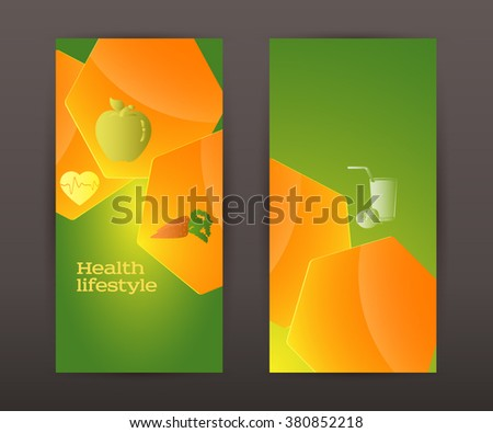 Healthy lifestyle and organic food icons over background on infographic style bubble speak chart. Vector illustration eps 10 for cover page magezine or web banner, template brochure front and back - stock vector
