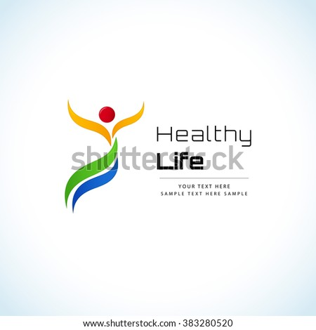 Healthy lifestyle concept - stock vector