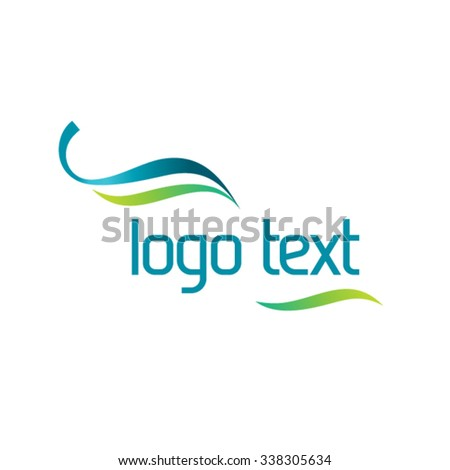 Healthy lifestyle logo template for your text - stock vector