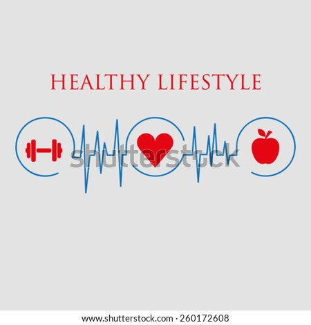 Healthy lifestyle vector illustration - stock vector