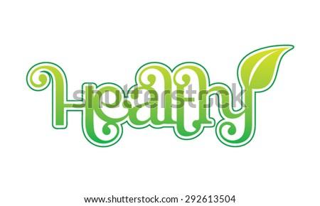 Healthy logo design - stock vector