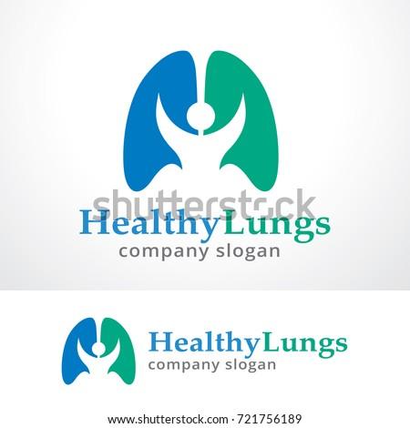 healthy lung logo template design vector stock vector 721756189, Powerpoint templates
