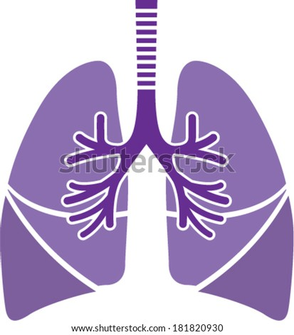 Healthy Lungs - stock vector