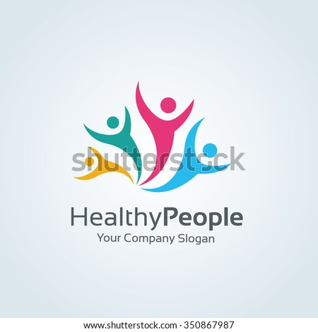 Healthy People Logo,Vector Logo Template