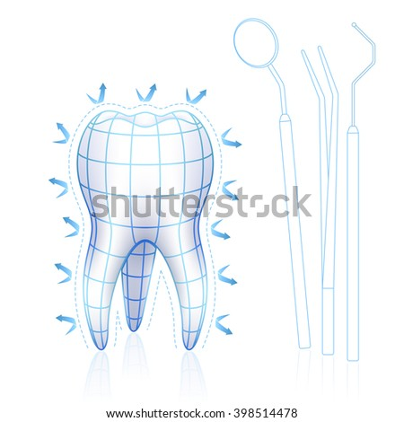 Healthy tooth - stock vector