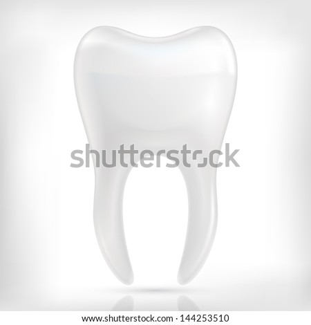 Healthy white tooth icon isolated on white background. - stock vector