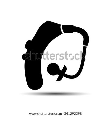 hearing medical device icon - stock vector