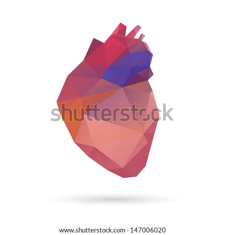 Heart abstract isolated on a white backgrounds - stock vector