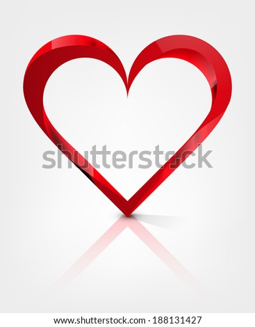 heart abstract vector illustration isolated on background eps 10 / heart