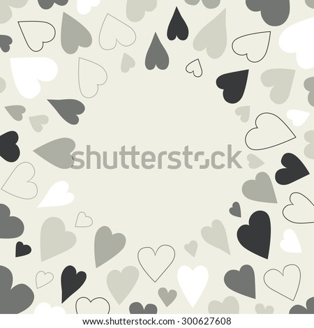Heart background pattern. Round shape festival background isolated.