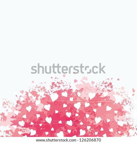 Heart background. Romantic vintage background. - stock vector
