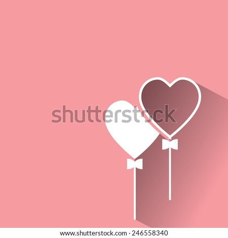 heart balloon - stock vector