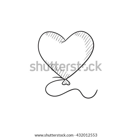 Flying Balloon Outline Stock Images Royalty Free Images Amp Vectors