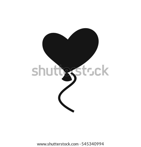 heart balloons icon illustration isolated vector sign symbol