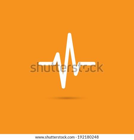 Heart beat, cardiogram,  medical - Vector - stock vector