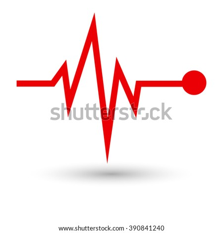heart beat ekg cardiogram pulse icon