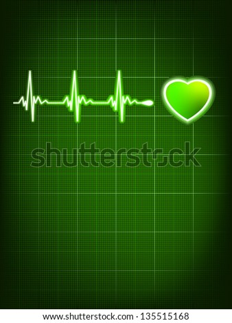 Heart beating monitor. EPS 8 vector file included