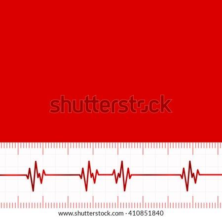 Heart beats cardiogram.Useful as medical background - stock vector