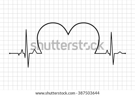 Heart beats various cardiogram vector set. Electrocardiogram and infarction pulse, line health, cardiology medicine illustration, Life line. Normal Sinus Rhythm. Heart Icon heart with cardiogram. - stock vector