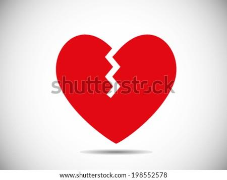 Heart Broken Icon - stock vector