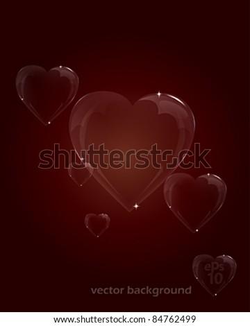 Heart Bubbles eps 10 - stock vector