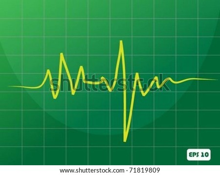 Heart cardiogram - stock vector