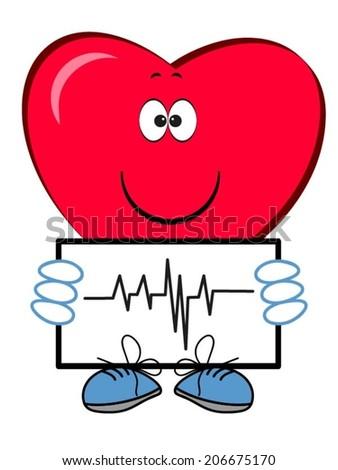 Heart cartoon. - stock vector