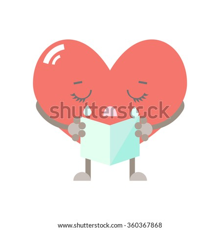 heart cartoon character vector illustration