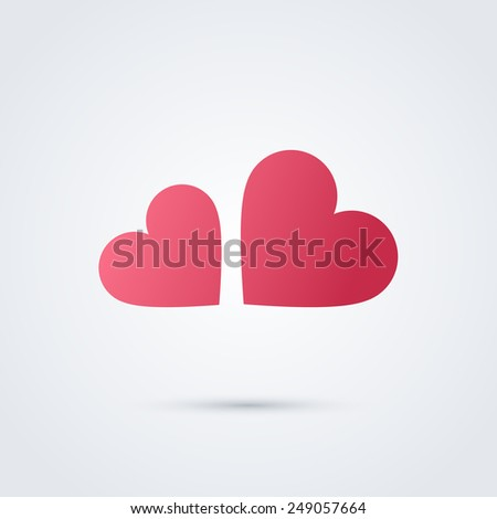 Heart cloud symbol logo icon design template. Vector sign. May be used in medical, dating, Valentines Day and wedding design.  - stock vector