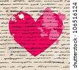 Heart design elements. Love. Handwriting vector background. - stock vector