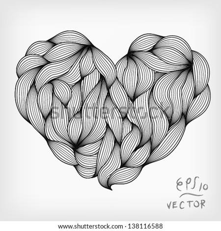 Heart Elements for design, EPS10 Vector background - stock vector