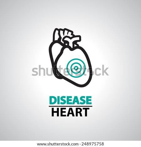 heart failure icon and symbol   - stock vector