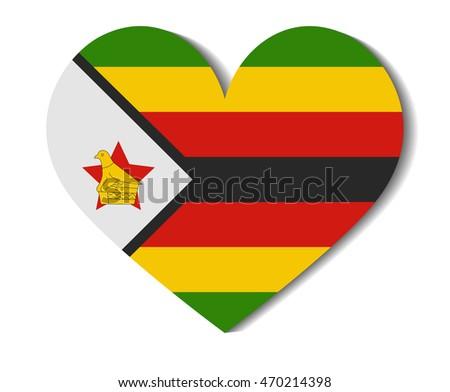 Heart flag zimbabwe