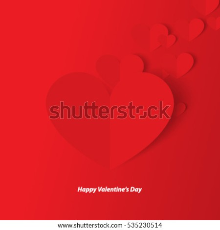 Heart for Valentine's Day Layout/Design Cover Background