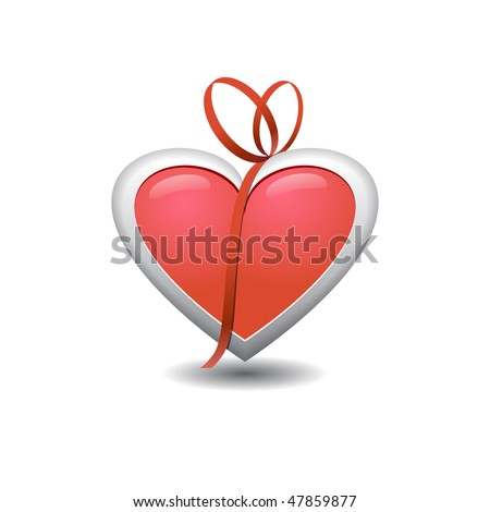 heart for valentine's day, mothers' day and women's day vector illustration