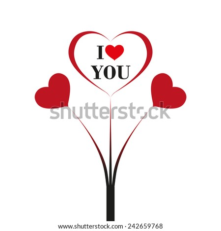 Heart for Valentines Day. Vector format.  - stock vector