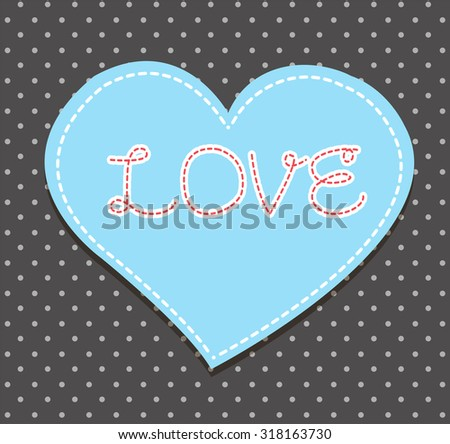 Heart from paper Valentines day card vector background. cut black paper - stock vector