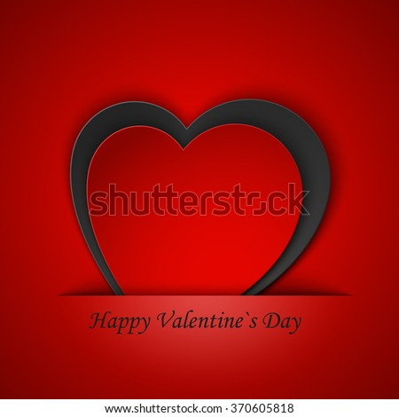 Heart from paper Valentines day card vector background eps 10. vector illustration