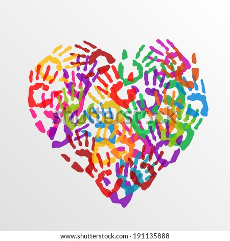 Handprint Heart Clipart Handprint Heart Stock ...