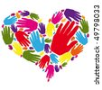 heart hands - stock vector