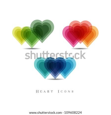 heart icon - stock vector