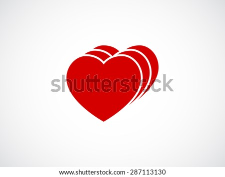 heart icon concept - stock vector