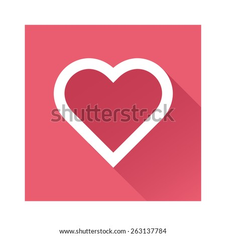 Heart icon great for any use. Vector EPS10. - stock vector