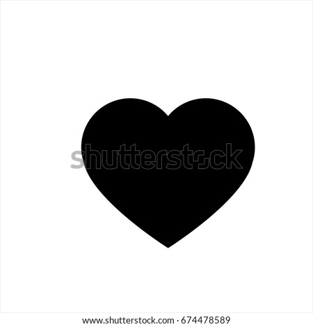 Heart Icon Trendy Flat Style Isolated Stock Vector Hd Royalty Free