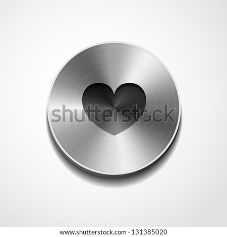 heart icon isolated - stock vector