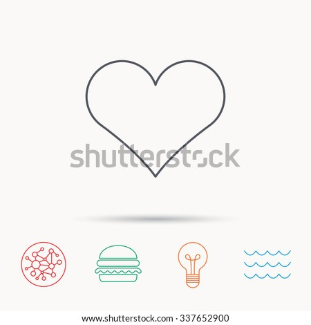 Heart icon. Love sign. Life symbol.  - stock vector