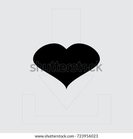Heart Icon Love Symbol Vector Illustration Stock Vector Royalty